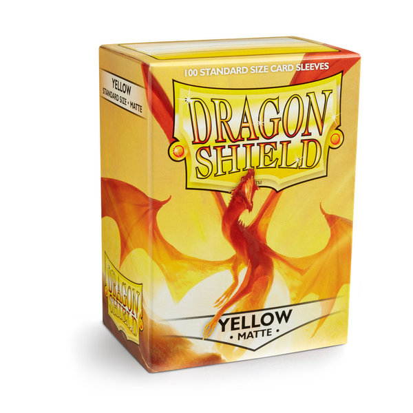 Dragon Shield Matte: Yellow (100 Stück)