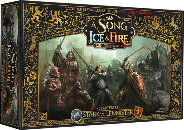 A Song of Ice & Fire: Miniaturenspiel - Stark vs. Lennister • Starterset DE